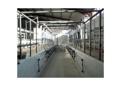 8+8 MILKING PARLOUR WITH DETACHER AND MILK METER